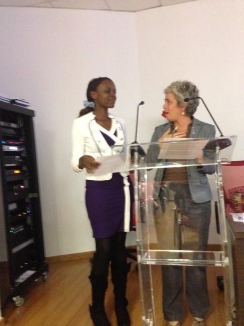 Elizabeth Wafula e il Vice-Direttore del Centro Manlio Rossi-Doria, Anna Carbone