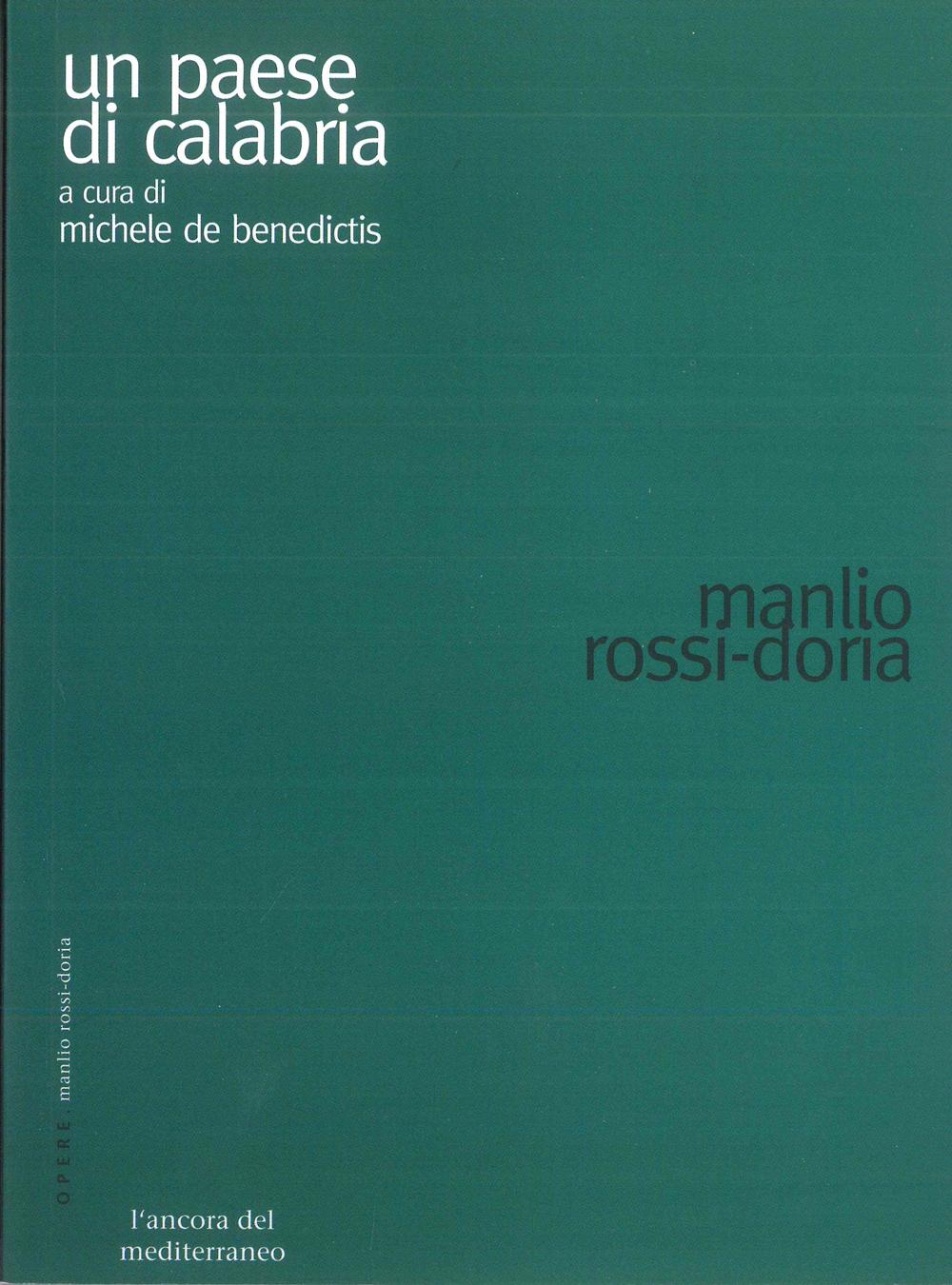 Un paese di Calabria - Scritti Manlio Rossi-Doria